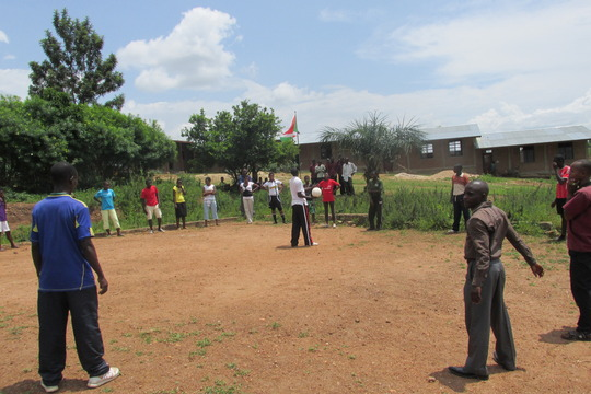 Students of our school playing volleyball