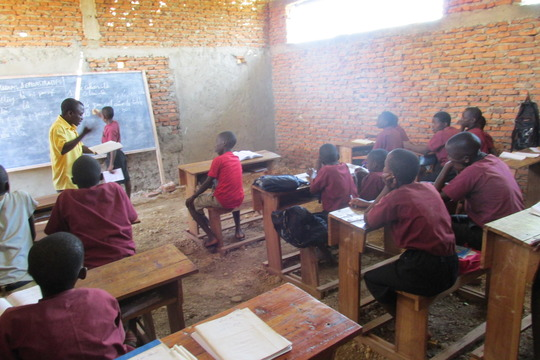 Students in one of the 2 additional classrooms