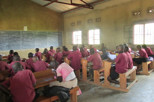 Students of Iwacu Kazoza School in classroom