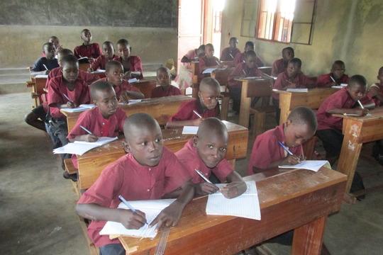 Students of Iwacu Kazoza School in classroom