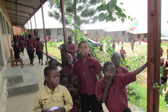 Students of Iwacu Kazoza School during break time