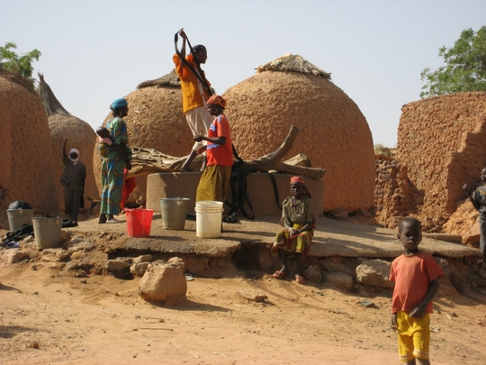 People working on a well 2