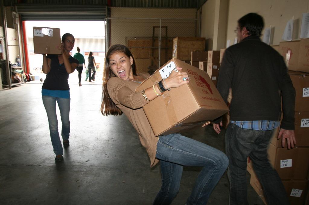Unloading books