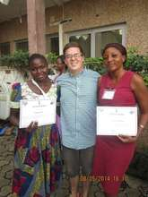 Cynthia, Adrian, and Caroline with Certificates