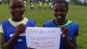Thank you from our girls!