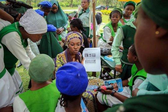 Girls get Menstrual Health and Hygiene Information