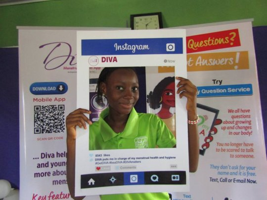 Girl taking charge of their menstrual health