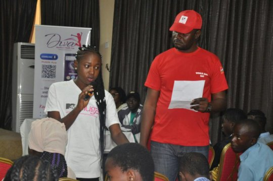 A Young Girl Asking Question