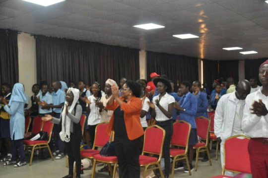 Young people participating in an Energizer