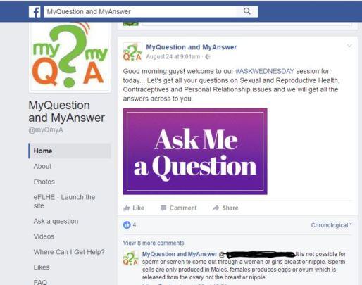 Facebook AskWednesday