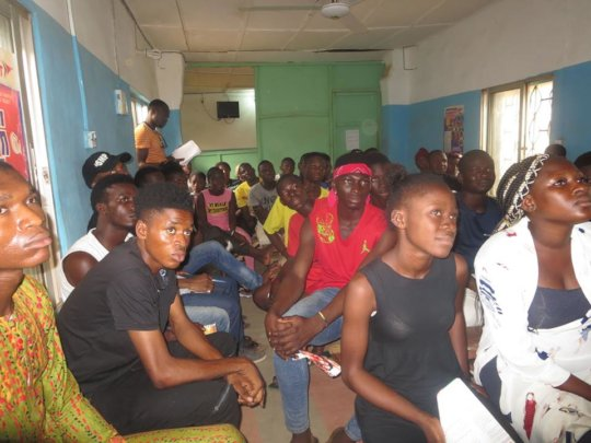 Young people listening with keen interest