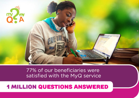 Young people were satisfied with the service
