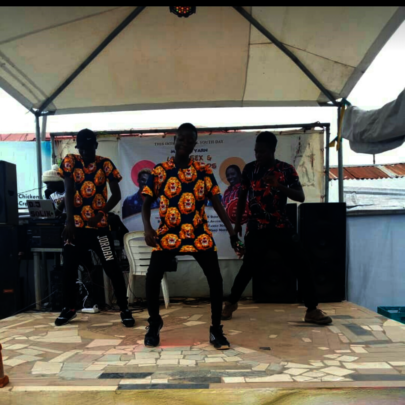 Young boys displaying their dancing skill