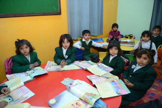Students fromt the NUR Foundation School