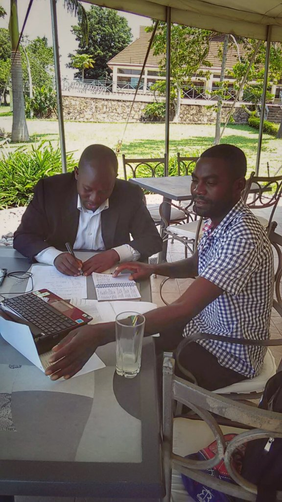 Lucas and Madaga planning for study camp