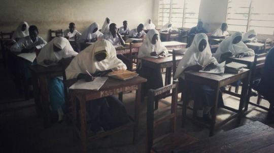 Students in class at study camp