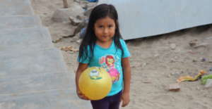 Girl playing at our center, Ludoteca