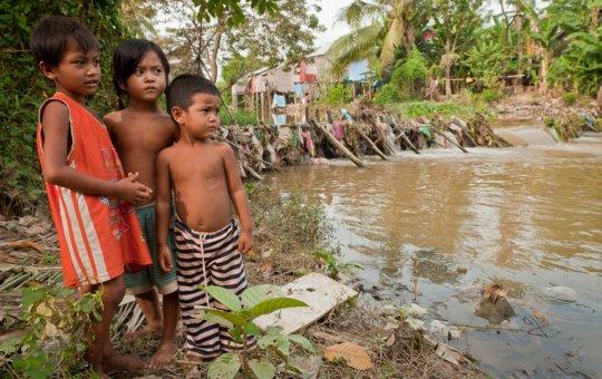 Water-borne diseases are a health risk In Cambodia