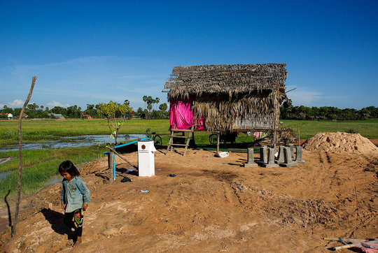 Bio-sand water filter installed at rural home