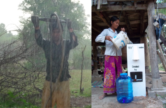 TS digs new wells and constructs water filters.