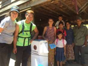 New water filter for a rural Cambodian family