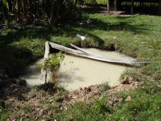 Typical traditional pit well