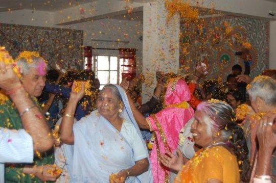 Widows Celebrating Holi