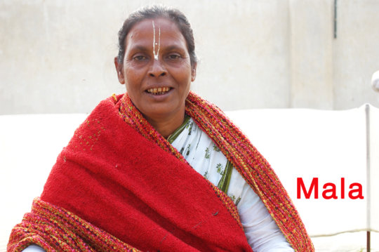 Mala, one of the resident widows