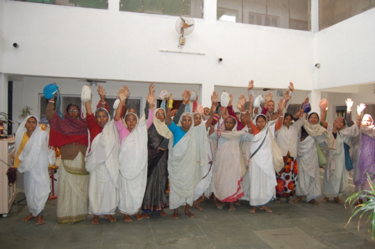 Resident Widows at Radha Kund Old Age Home