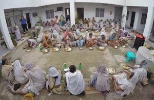 Daily mid day meal distribution