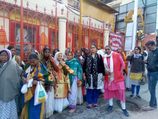 Widow mothers travel to Haridwar