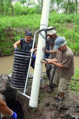Installing a solar water pump