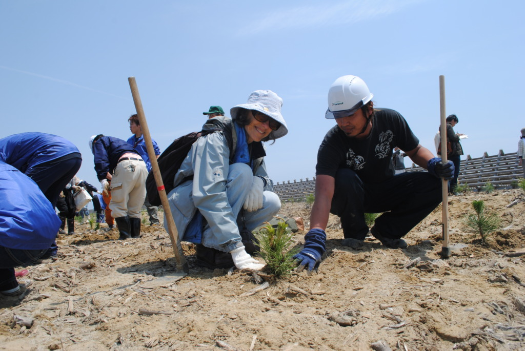 Involvement with the actual tree planting