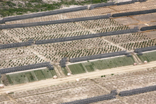 Aerial view of the project.