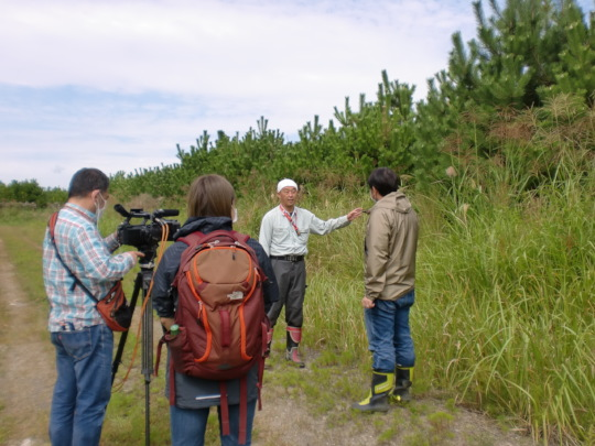 Project`s media coverage at the site.