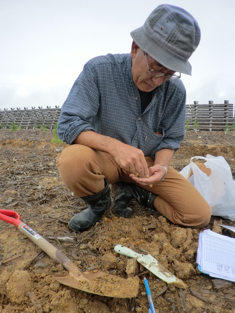Dr. Kunihiro Seido during the project monitoring.