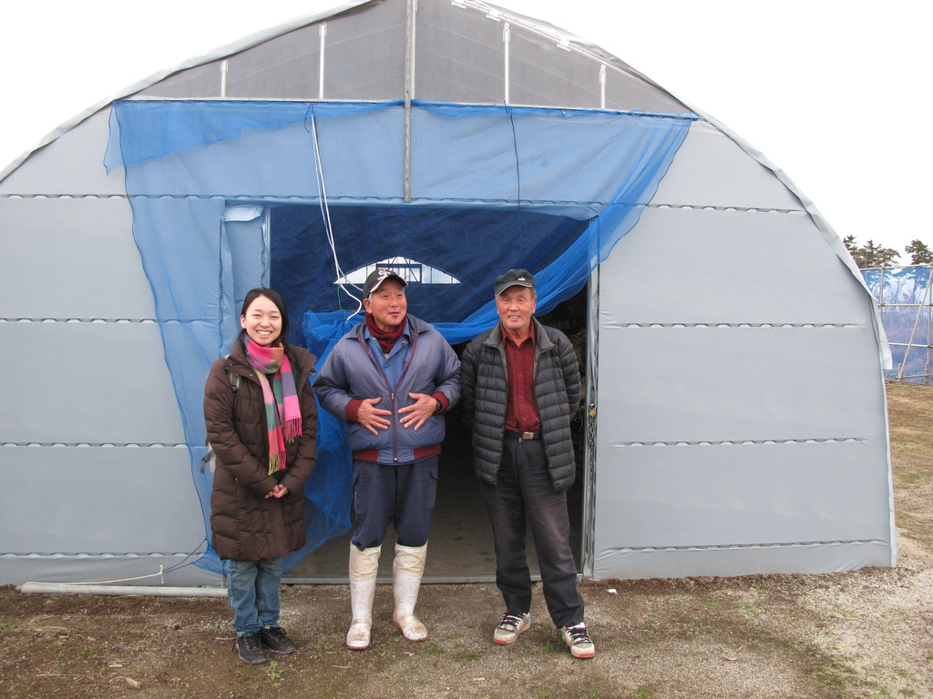 Mr.Mori&Otomo with GlobalGiving funded warehouse