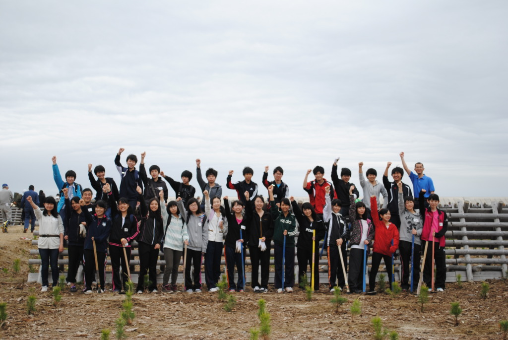 Local students after the tree planting activity.