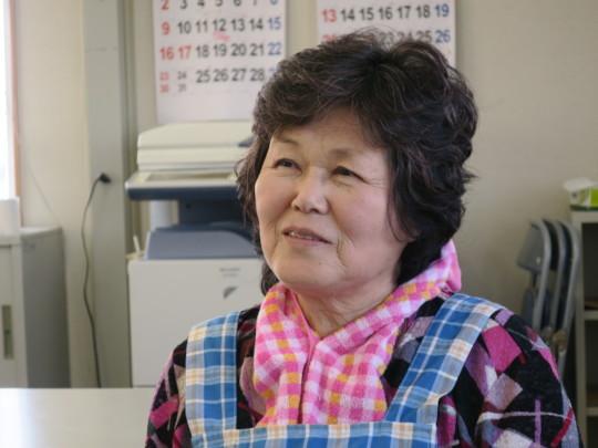 Shukuko, tsunami survivor and project core member
