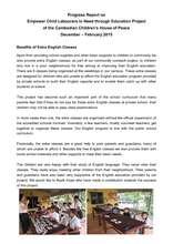 Progress Repot on Community Outreach Project (PDF)