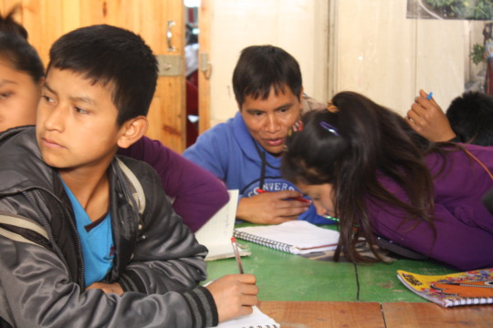 Our scholars during math tutoring