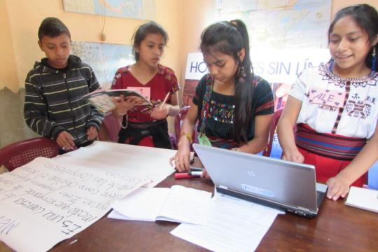 Limitless Horizons Ixil scholars hard at work