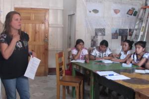 Scholars during a workshop on self-esteem