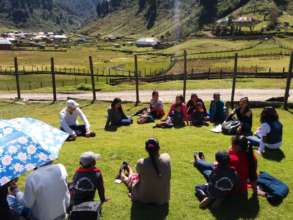 Meeting with parents in Huehuetenango