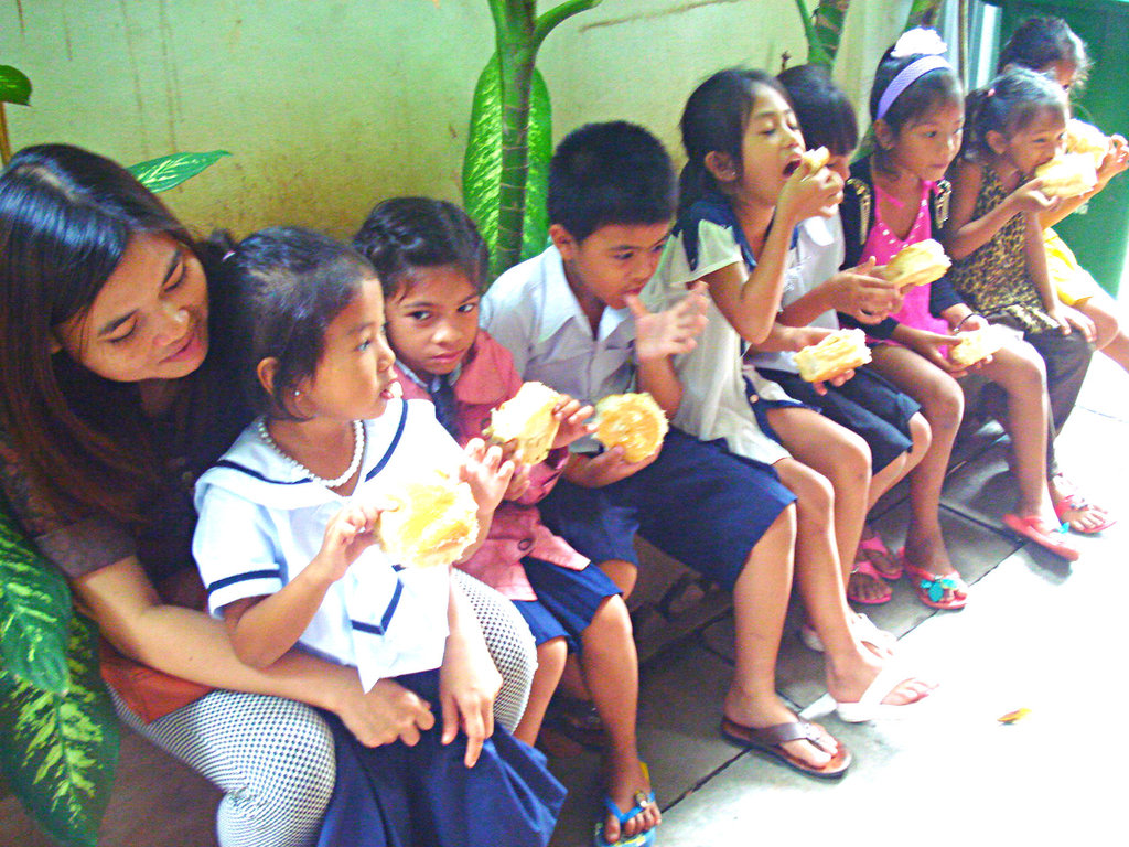 Snacks before a field trip to Bophana Centre