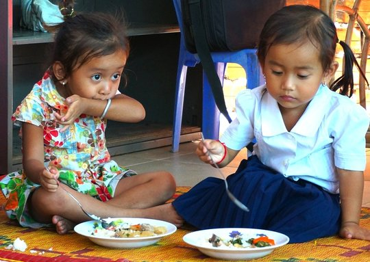 Children having meals at Riverkids Weekly Boarding