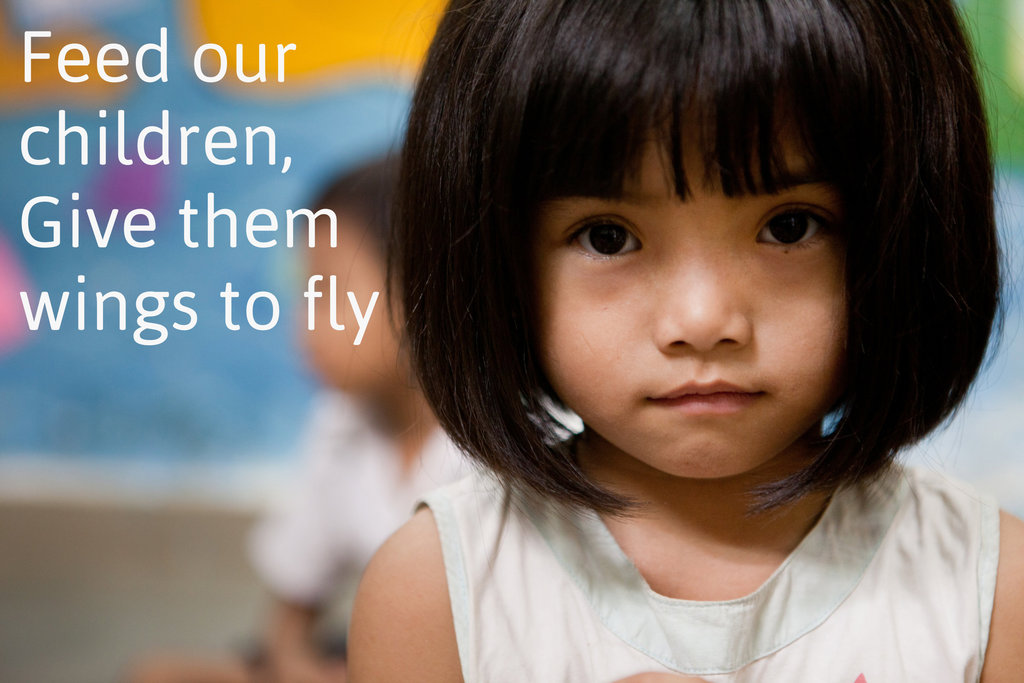 Feed our children, give them Wings to fly!