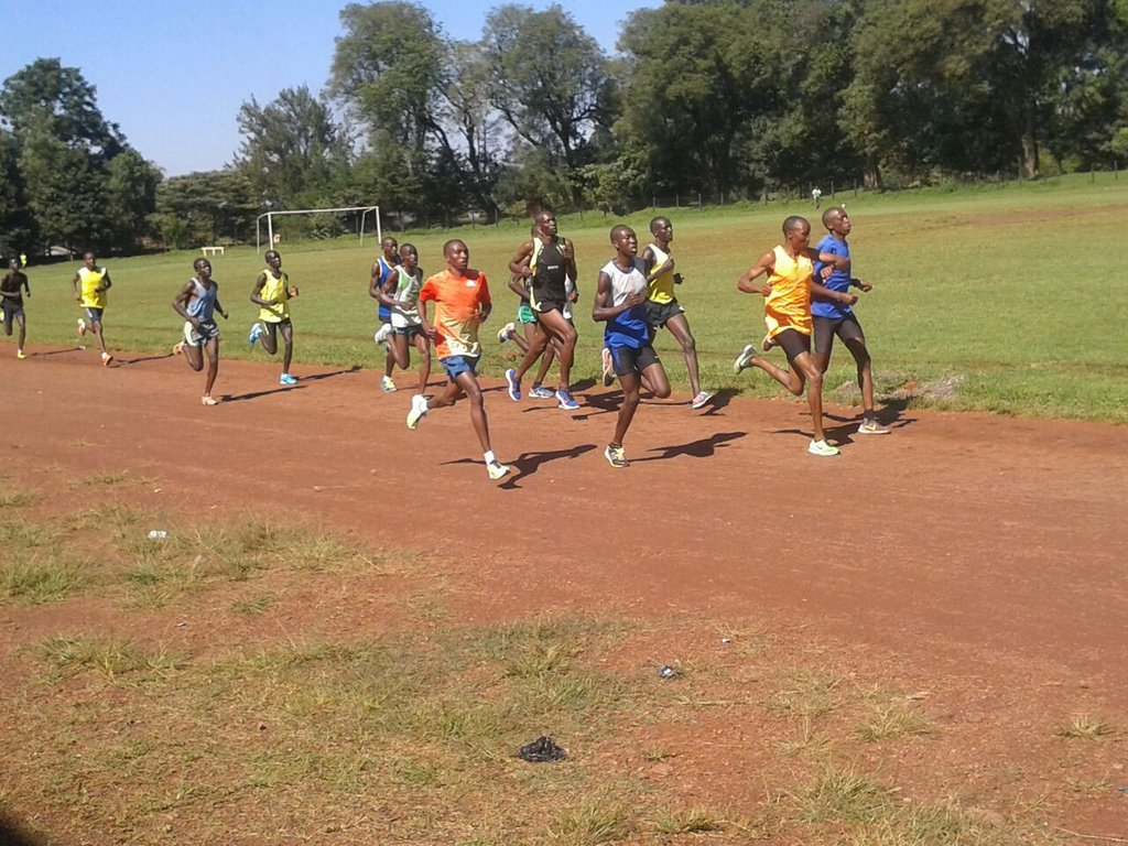 Alfred and friends training / running in Kenya