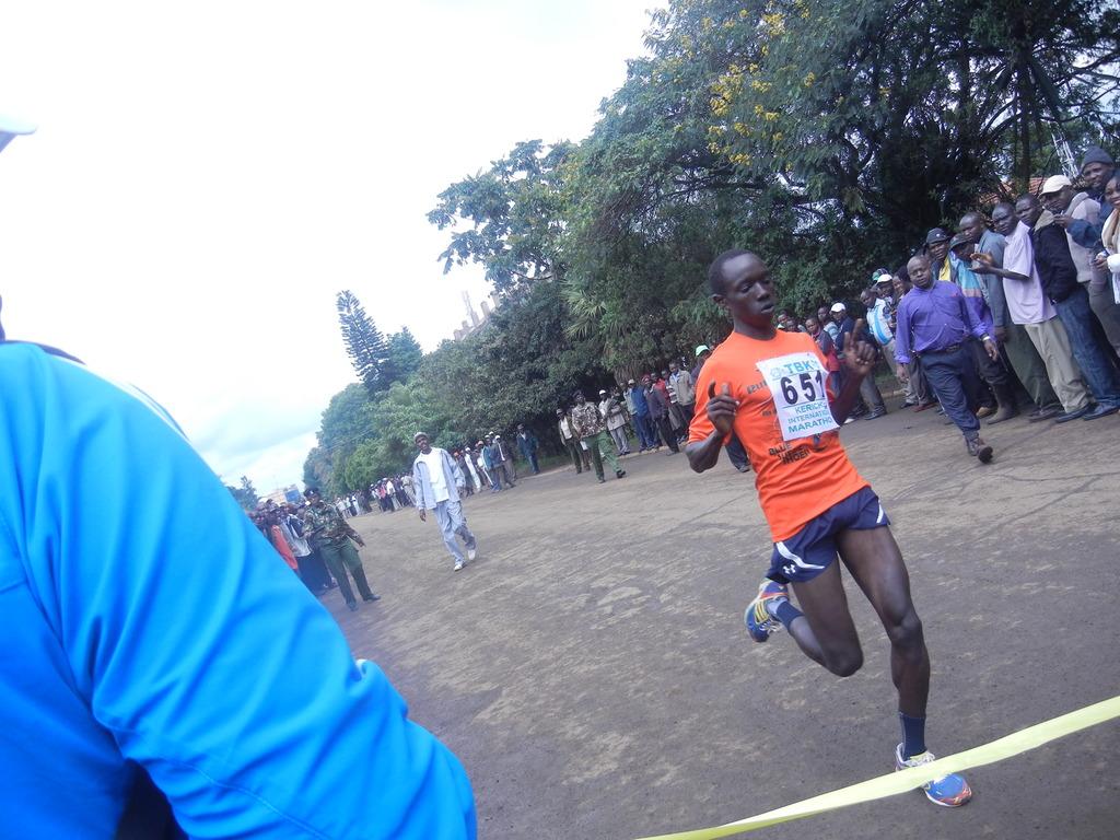 finishing strong at TBK marathon