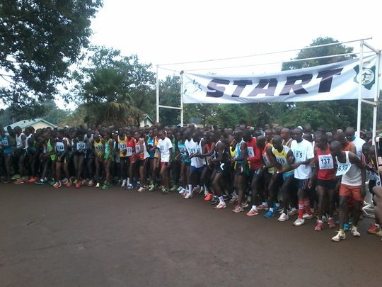Runners at TBK marathon starting